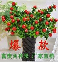 artificial fruit orange - 10pcs Silk Artificial Flowers artificial flowers Simulation plants simulation fruit home decor six rich fruit fork fruit Auspi