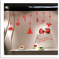 Wholesale Christmas Snowflake String Wall Stickers Decals Shop Window Stickers Decoration