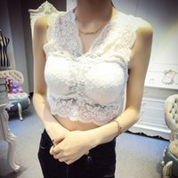 Wholesale No rims lace lingerie with a chest pad sexy deep V neck vest harness vest Slim bottoming shirt Y9288