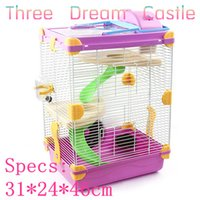 Wholesale 2015 New multicolor pet gaiola hamster cage Heightening Dream Castle Travel carry hamster cages