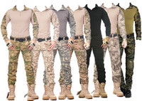 camouflage clothing - SWAT Tactical Camouflage Military Uniform Clothing Set Men US Army Multicam Hunting Militar Combat Shirt Cargo Pants Knee Pads