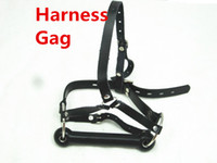 leather bondage harness - Leather Belt Slave Mouth Gags for Bondage Head Harness Gags Sex Toys Adult Toys WQ HG1754
