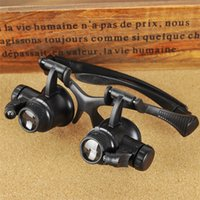 Wholesale Eye Jeweler Watch Repair Magnifier LED Light Tools X X X X Magnification Lupa Optical Lenses Magnifying Glass