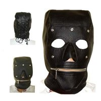 sex game - Slave Hood Mask Removable Goggles Mouth Zipper PVC Leather Fetish Fantasy Dress Sex Toy For Adult Sex Game