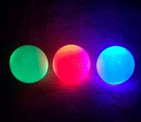 Wholesale EMS LED Flashing Golf Ball Luminous LED Golf Balls Luminous Red Blue green white