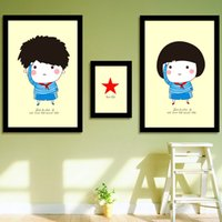 Wholesale IKEA precise printing Triptych Cross Stitch cross stitch new living room painted bedroom cartoon series Pioneers