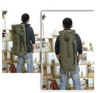 Wholesale 1 Luggage Travel Bag Top Quality army canvas Backpack Mountain backpack Hiking Backpack