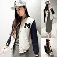 letterman jackets - Ladies Varsity Letterman Jacket Baseball Coat Sweater University College Hoodie