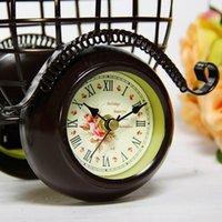 antique mantel clocks - European Vintage Metal Iron Art Tricycle Model Mantel Clock Handicraft Accessories Embellishment for Home Decoration and Present