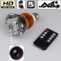 Wholesale SPY HIDDEN LED Light Bulb Video Camera Mini DV Night Vision Voice Remote P