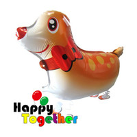 aluminium foil manufacturers - 10 Inflatable Cute Reindeer Foil Walking Pet Balloons Happy Together Manufacturer For Kids Toys