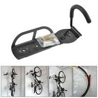 Wholesale Bicycle Bike Cycling MTB Storage Garage Wall Mounted Mount Hook Rack Holder Hanger Stand Steel Black Durable B062