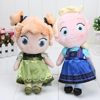 Wholesale 30CM childhood Plush Elsa and Anna baby plush Soft Toy princess Brinquedos Kids Dolls for Girls Christmas gift