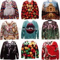 animals diet - w1218 New Men Women print leopard animal D Sweatshirt Panda tiger diet Pullovers Galaxy hoodies top S M L XL