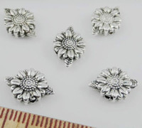 Wholesale Free Ship Tibetan Silver Flower Spacer Beads For Jewelry Making x9mm