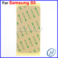 Wholesale Pre cut M Sticker Adhesive For Samsung Galaxy S2 S3 I9300 S4 I9500 S5 Note1 Note Note S3 Mini S4 Mini S5 Mini Front Glass Lens Screen