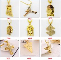 hip hop jewelry - Fashion Hip hop long necklace K gold plated High quality CZ Diamonds jesus piece pendant Jewelry for women and men styles optional