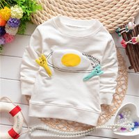 baby fry - baby novelty egg and fork hoody baby unisex fried eggs sweatershirts KT260R