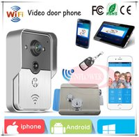 Wholesale New brand Wifi video door phone intercom wireless App can be run in Android and IOS devices Electronic lock