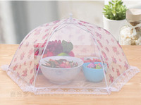 anti mosquito fabric - Food Covers Umbrella Style Anti Fly Mosquito Kitchen cooking Tools meal cover Hexagon gauze table mesh food cover