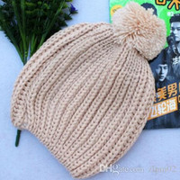 Wholesale 2014 winter womens warm embroidered knit wool hats