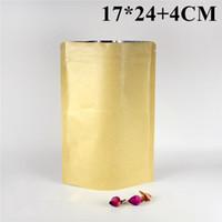 barrier stand - Plastic Aluminum Foil Stand Up Bag Brown Kraft Paper Moisture barrier Food Packaging Bags CM
