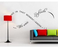 Wholesale And in That Moment We Were Infinite Decal Sticker Vinyl Wall Family Life Letters