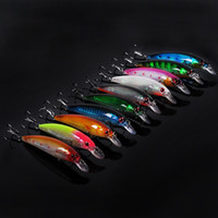 Cheap 110mm 15g 10Pcs Lot Minnow Fishing Lure Carp Fishing Lures Treble Hook Isca Artificial Hard Bait Fish Bait Carp Fishing Tackle
