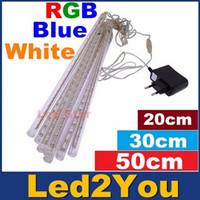 Wholesale 40pcs sets cm cm cm waterproof Meteor Shower Rain Tubes LED Light for Party Wedding Decoration Christmas Holiday LED Meteor Light
