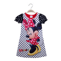 Wholesale 2016 new summer style Kids girls clothes cute cartoon Children s Dress Minnie lovely nice Clothes lovely girls dress