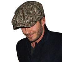autumn international - Fashion Octagonal Cap Newsboy Beret Hat Autumn And Winter Hats For Men s International Superstar Jason Statham Male Models