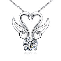 animal cost - Low cost European and American fashion silver plated swan shape necklace for women