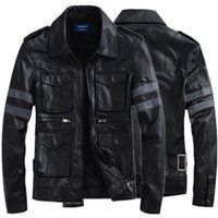 authentic outerwear - 2015 winter Hot selling fashion authentic special offer three dimensional pocket leather clothing outerwear