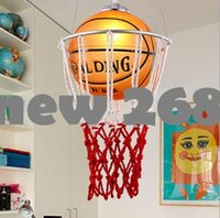 basketball pendant light - new creative children bedroom lights balcony Basketball pendant light LED lamp drop lamp E27 bedroom dining lampshade for home