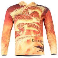 add tee shirt - Hot Sale Men Dragon Printed D Hoodies Creative add Cloth with soft nap T Shirt keep warm Long Sleeve Tee Shirt style
