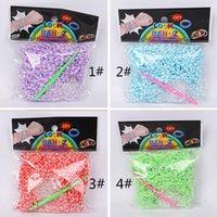 Cheap 600piece ot colorful 16 Segment Fun Loom Rubber rainbow loom band loom Kit rubber bracelets DIY children gifts free