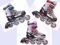 single wheel shoes - CF L Single row adjustable skating shoes Roller Skates wheels Flash light round