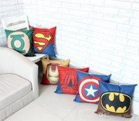 Wholesale New Arrival Marvel Heroes Soft Stuffed Bolster cm Captain America Superman Batman Ironman Green Lantern Children Gift