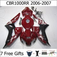 Wholesale Deep Red Black Motorcycle Fairing Kits For Honda CBR1000RR Cowl Set Injection Molding Free Gifts ABS Body Kit CBR