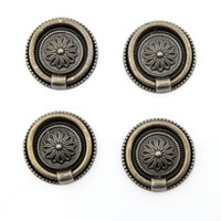 Wholesale Antique Bronze European Style Kitchen Cabinet Door Knob Zinc alloy Cupboard Drawer Dresser Pull Ring Closet Handle Knob mm