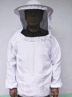beekeeper hat veil - 1Pc Sleeve Suit Beekeeper Uniforms Workwear Protective Safety Clothing Beekeeping Jacket Veil Smock Bee Keeping Hat CX871460 A5