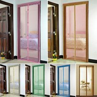 Wholesale 2015 New Summer Magic Magnetic Insect Door Screen Net Portiere Curtain Fly Bug Mosquito Door Mesh Curtain