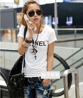 Wholesale C paris shirt Women t shirt logo letters Printed Tops for women bigger size T shirt Tops Tees