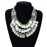 Wholesale European and American fashion fresh exaggerated beaded necklace pendant statement for ladies and fashion necklace hot sale neck