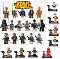 Wholesale SALE Building Blocks Super Heroes Star Wars Minifigures Darth Vader Stormtrooper Clone Trooper Yoda Figure Children s Toys