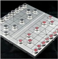 Wholesale Advanced aluminum system Chinese Chess folding magnetic chess portable travel bag send