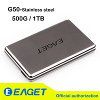 Wholesale Original Eaget G50 G TB quot Full Stainless Steel Hard Encryption Shockproof USB3 High speed External Hard Drives Disk HDD