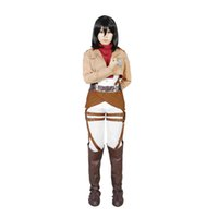 attack on titan cosplay - Milica Books Attack on Titan Shingeki No Kyojin The Survey Corps Mikasa Ackerman Cosplay Costume Japanese Anime cosplay Costumes