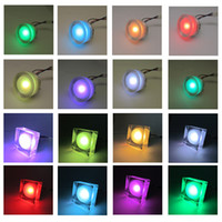 Wholesale 2015 Modern Acryclic Watts RGB LED Ceiling Lights Colors Changing Spot Lamp With Key Infrared Remote Control Lights For Party Evening