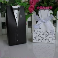 black gift boxes - 100pcs Bride and Groom box Wedding Favor Boxes Gift box Candy box chocolate boxs